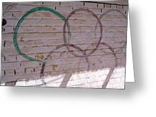 Miscolored Olympic Rings Greeting Card