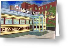Miss Albany Diner Greeting Card