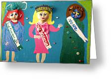 Miss Bo Leg Usa Greeting Card