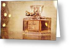 Miss Dior Greeting Card by Susan Bordelon