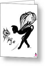 Miss Fifi Is Given Wings Greeting Card
