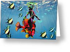 Miss Fifi New Friends In The Ocean Greeting Card