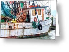 Miss Hale Shrimp Boat - Side Greeting Card