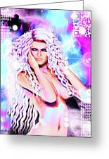 Miss Inter-dimensional 2089 Greeting Card