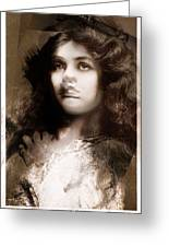 Miss Maude Fealy Greeting Card
