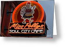 Miss Polly's Soul City Cafe Greeting Card