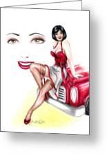 Miss Sassy Greeting Card