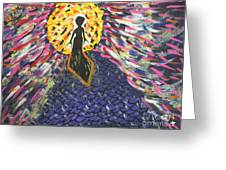 Miss Ufo Greeting Card