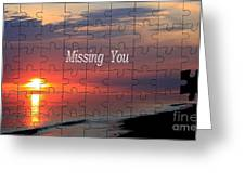 Missing You Greeting Card by Stefan Kuhn