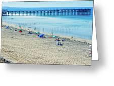 Mission Beach Summer Greeting Card