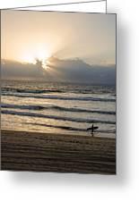 Mission Beach Surfer Greeting Card