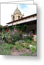 Mission Bells And Garden Greeting Card