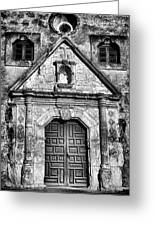 Mission Concepcion Front - Classic Bw Greeting Card