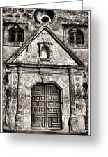 Mission Concepcion - Bw Toned Border Greeting Card