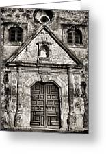 Mission Concepcion Front - Toned Bw Greeting Card