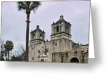 Mission Concepcion With Well And Tree Greeting Card