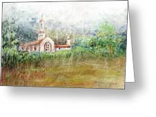 Mission In The Fog Greeting Card