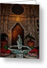 Mission Inn Chapel Fountain Greeting Card