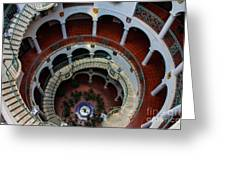 Mission Inn Circular Stairway Greeting Card