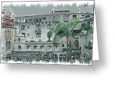 Mission Inn Court Yard Greeting Card