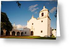 Mission Nuestra Senora Del Espiritu Santo De Zuniga At Sunset - Goliad Coastal Bend Texas Greeting Card