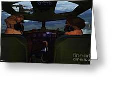 Mission Over Germany - Oil Greeting Card