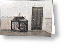 Mission San Diego - Confessional Door Greeting Card