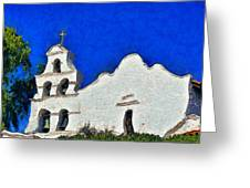 Mission San Diego De Alcala Greeting Card by Christine Till