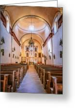Mission San Jose Chapel Glow Greeting Card