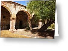 Mission San Juan Capistrano - Quiet Walkway Greeting Card