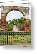 Mission San Luis Rey Carriage Arch Greeting Card