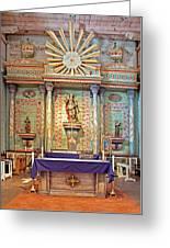 Mission San Miguel Arcangel Altar, San Miguel, California Greeting Card