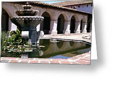 Mission San Miguel Fountian 2 Greeting Card