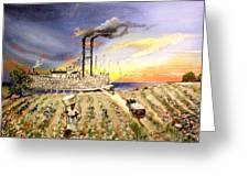 Mississippi Cotton Boat Greeting Card by Terri Kilpatrick