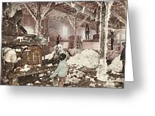 Mississippi Cotton Gin At Dahomey Greeting Card
