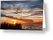 Mississippi Gulf Coast Sunset Greeting Card