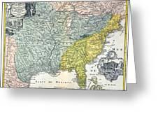 Mississippi Region, 1687 Greeting Card