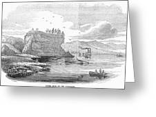 Mississippi River, 1854 Greeting Card