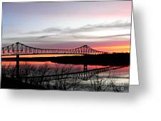 Mississippi River At Savanna Greeting Card