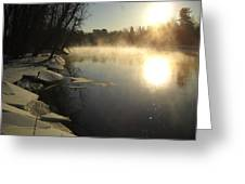 Mississippi River Bank Sunrise Greeting Card