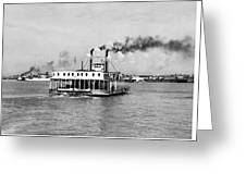 Mississippi River Ferry Boat Greeting Card