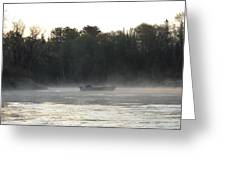 Mississippi River Fisherman At Dawn Greeting Card