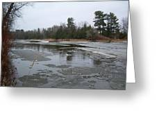 Mississippi River Ice Flow Greeting Card