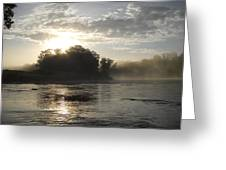 Mississippi River June Sunrise Reflection Greeting Card