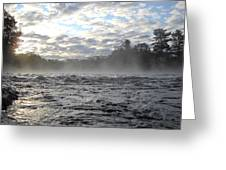 Mississippi River Mist Over Rushing Water Greeting Card