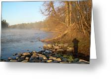 Mississippi River Shades Of Fog Greeting Card