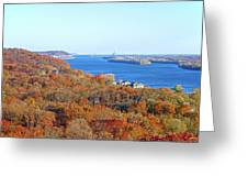 Mississippi Views From Grafton Bluffs Greeting Card