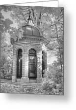 Missouri Botanical Garden Henry Shaw Crypt Infrared Black And White Greeting Card