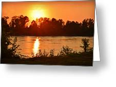Missouri River In St. Joseph Greeting Card