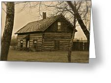 Missuakee County Log Cabin Greeting Card